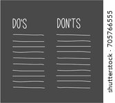 do's and don'ts list in... | Shutterstock .eps vector #705766555