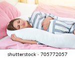 beautiful pregnant woman...   Shutterstock . vector #705772057
