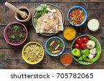 indian cooking. various... | Shutterstock . vector #705782065