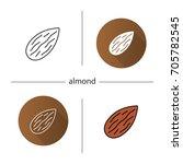 almond icon. flat design ... | Shutterstock .eps vector #705782545