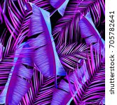 tropical colorful background... | Shutterstock . vector #705782641