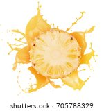 pineapple with juice splash... | Shutterstock . vector #705788329