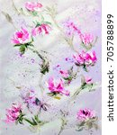 hand painted modern style pink... | Shutterstock . vector #705788899