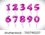 vector rose number 1  2  3  4 ... | Shutterstock .eps vector #705790237