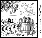 landscape with apple harvest... | Shutterstock .eps vector #70579669