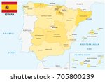 spain administrative and... | Shutterstock .eps vector #705800239