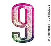 glittery stamped ink pink and...   Shutterstock . vector #705803221