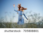developing a woman's hair... | Shutterstock . vector #705808801