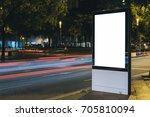 advertisement mock up. lightbox ... | Shutterstock . vector #705810094