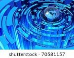global blue abstraction | Shutterstock . vector #70581157
