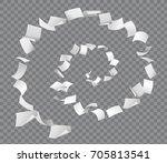 vector papers flying in spiral... | Shutterstock .eps vector #705813541