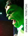 Small photo of LAS VEGAS, NEVADA US - Oct 29, 2014: Hulk giant model , Madame Tussauds museum in Las Vegas.