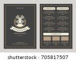 restaurant logo and menu design ... | Shutterstock .eps vector #705817507