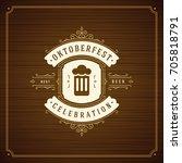 oktoberfest beer festival... | Shutterstock .eps vector #705818791