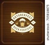 oktoberfest beer festival... | Shutterstock .eps vector #705818875