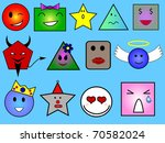 different faces with different... | Shutterstock . vector #70582024