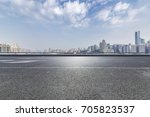 panoramic skyline and buildings ... | Shutterstock . vector #705823537