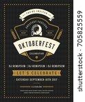 oktoberfest beer festival... | Shutterstock .eps vector #705825559