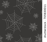 halloween spider web seamless... | Shutterstock .eps vector #705830011