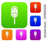 semaphore trafficlight set icon ... | Shutterstock .eps vector #705830305