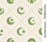 seamless pattern with symbol of ... | Shutterstock .eps vector #705831361