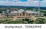 aerial view of alexandra palace ... | Shutterstock . vector #705833944