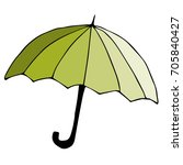 colorful vector umbrella... | Shutterstock .eps vector #705840427