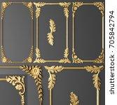 3d rendering stucco molding ...   Shutterstock . vector #705842794