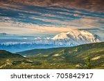view of alaska's mount denali... | Shutterstock . vector #705842917