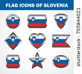 flag icons of slovenia stock... | Shutterstock .eps vector #705844021