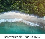 clean beach in nicaragua... | Shutterstock . vector #705854689