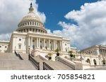 washington dc  us capitol... | Shutterstock . vector #705854821