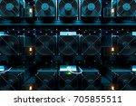design element. 3d illustration.... | Shutterstock . vector #705855511