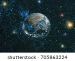the earth from space. this... | Shutterstock . vector #705863224