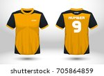 yellow and black layout... | Shutterstock .eps vector #705864859