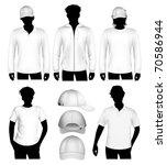 set of vector clothes design... | Shutterstock .eps vector #70586944