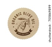 organic olive oil label in eco...   Shutterstock .eps vector #705869899