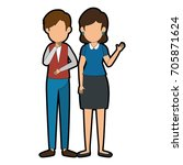 businesspeople standing icon | Shutterstock .eps vector #705871624