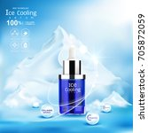 ice cooling serum collagen and... | Shutterstock .eps vector #705872059