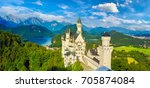 neuschwanstein castle in fussen ... | Shutterstock . vector #705874084