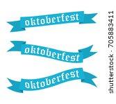 oktoberfest banners in bavarian ... | Shutterstock .eps vector #705883411