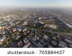 aerial view of exposition park  ... | Shutterstock . vector #705884437