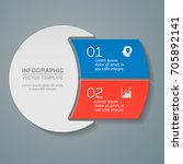 vector infographic template for ... | Shutterstock .eps vector #705892141
