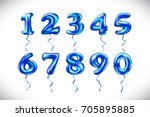 vector blue number 1  2  3  4 ...