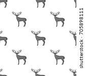 deer with big horns.animals... | Shutterstock .eps vector #705898111