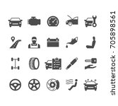 auto service flat icons. | Shutterstock .eps vector #705898561