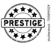 grunge black prestige with star ... | Shutterstock .eps vector #705899329