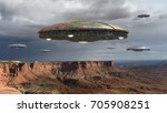 alien spaceship fleet above the ... | Shutterstock . vector #705908251