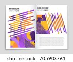abstract vector layout... | Shutterstock .eps vector #705908761