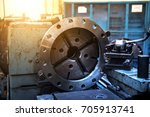 close up metal machine working... | Shutterstock . vector #705913741